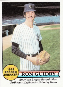 1979 Topps Ron Guidry RB