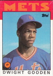 1986 Topps Box Cards Dwight Gooden