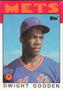 1986 Topps Box Cards Dwight Gooden