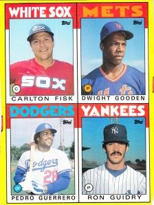 1986 Topps box cards E-H