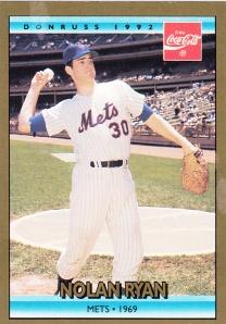 1992 Donruss Coke Nolan Ryan 1969 Mets