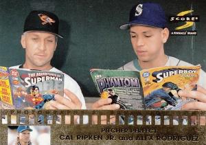1997 Score Pitcher Perfect Cal Ripken Alex Rodriguez