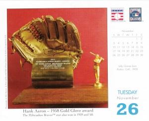Baseball HOF Calendar 11-26-2013