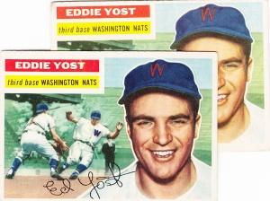1956 Topps Eddie Yost in duplicate