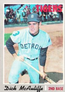 1970 Topps Dick McAuliffe