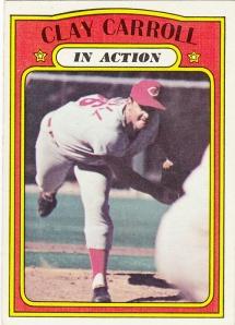 1972 Topps Clay Carroll IA