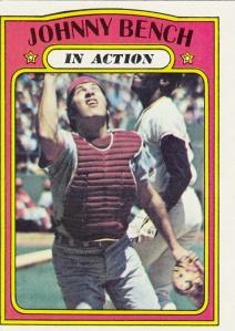 1972 Topps Johnny Bench IA