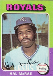 1975 Topps Hal McRae