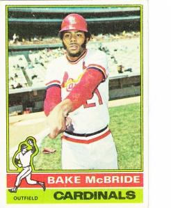 1976 Topps Bake McBride