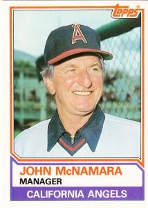 1983 Topps Traded John McNamara