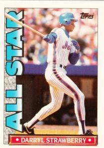 1990 Topps TV All Stars Darryl Strawberry