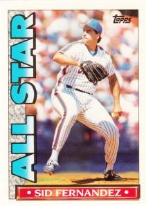 1990 Topps TV All Stars Sid Fernandez
