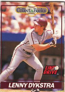 1991 Line Drive Collect-A-Books Lenny Dykstra_0001