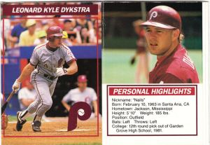 1991 Line Drive Collect-A-Books Lenny Dykstra_0002