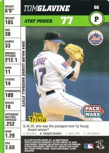 2005 Topps Pack Wars Tom Glavine