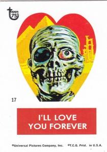 2013 Topps 75th Frankenstein Valentine Stickers