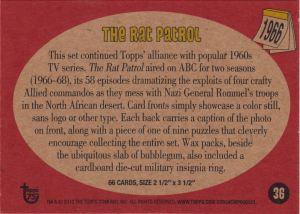2013 Topps 75th Rat Patrol Back