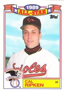 1990 Topps All-Star Glossy Cal Ripken