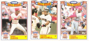 1990 Topps All-Star Glossy Davis Mitchell Smith