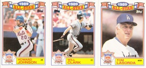 1990 Topps All-Star Glossy Johnson Clark Lasorda