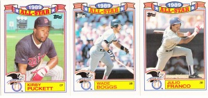 1990 Topps All-Star Glossy Puckett Boggs Franco