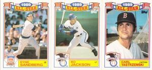 1990 Topps All-Star Glossy Sandberg Jackson Yastrzemski