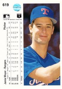 1990 Upper Deck Jamie Moyer back