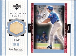2002 Upper Deck Collectors Club Alex Rodriguez Bat