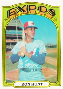 1972 Topps Ron Hunt