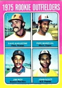 1975 Rookie Outfielders Augustine Mangual Rice Scott