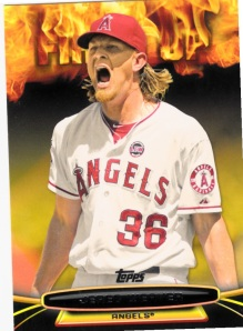 2014 Topps Opening Day Fired Up Jered Weaver