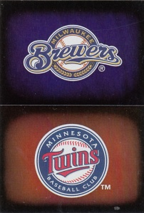 2014 Topps Stickers Brewers Twins