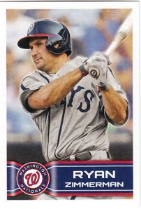 2014 Topps Stickers Ryan Zimmerman
