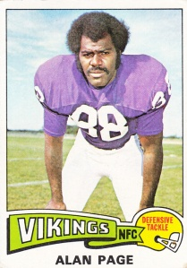 1975 Topps Football Alan Page