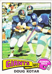 1975 Topps Football Doug Kotar