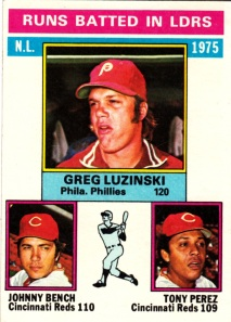 1976 Topps NL RBI Leaders