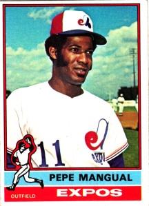 1976 Topps Pepe Mangual