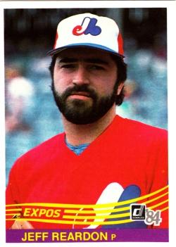 1984 Donruss Jeff Reardon