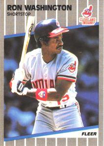 1989 Fleer Ron Washington