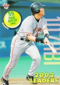 2003 BBM 1st Version Hideki Matsui Leader