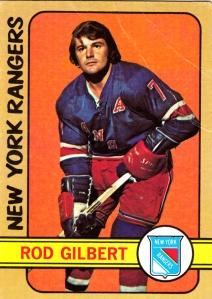 1972-73 Topps Hockey Rod Gilbert