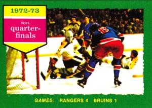 1973-74 OPC Hockey Quarterfinals Rangers Bruins