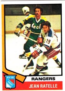 1974-75 Topps Hockey Jean Ratelle
