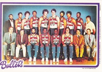 1980-81 Topps Basketball Bullets Pin Up