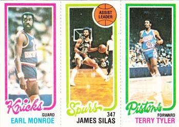 1980-81 Topps Basketball Monroe Silas Tyler