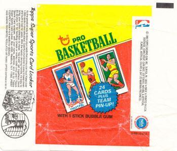 1980-81 Topps Basketball Wrapper
