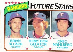 1980 Topps Rangers Future Stars Allard Gleaton Mahlberg