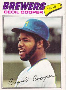 1977 OPC Cecil Cooper