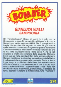 1991-92 Score Italian Football Gianluca Vialli back