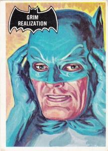 1966 Topps Batman Black Bat Grim Realization